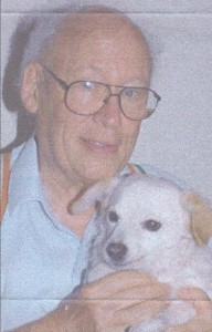 Larry Hein S.J. Ret. and his 'Angel-dog' Missy